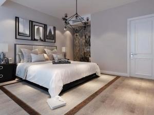 简欧风格木地板效果图 浅色卧室木地板图片