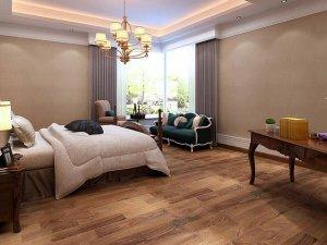 卧室木地板装修效果图 深色木地板装修图片