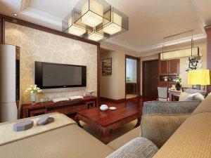 新中式风格红色木地板装修案例 红色木地板搭配