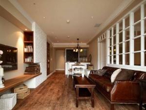 美式怀旧风格木地板装修案例 木地板图片大全