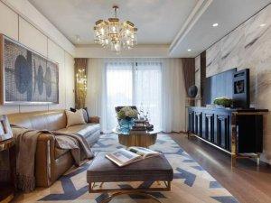 新古典风格强化地板装修效果图 强化木地板搭配图片