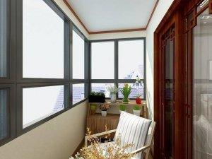 田园风格强化木地板装修效果图 阳台木地板装修效果图
