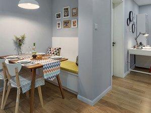小户型餐厅木地板装修效果图 强化木地板装修效果图