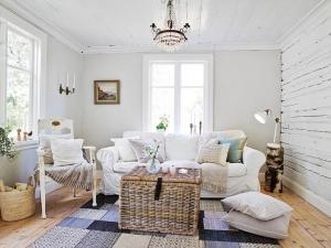 北欧风格客厅木地板装修效果图 北欧风格木地板效果图