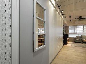 入户玄关黄色木地板装修效果图 木地板装修效果图