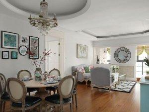 田园风格客厅浅色木地板图片 客厅木地板图片