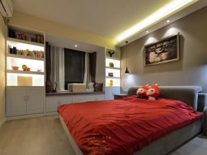 婚房卧室软木地板图片 家装软木地板图片