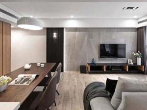 现代三居室客厅橡木实木地板图片 木地板图片