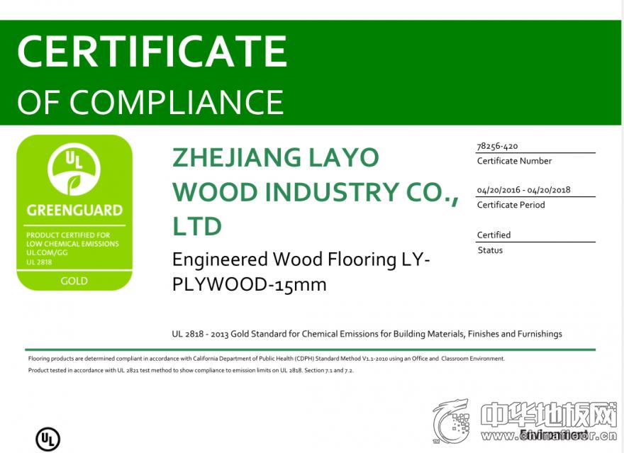 GREEN GUARD认证