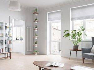 北欧风阳光美宅清爽家庭室内木地板图片 轻盈又清新