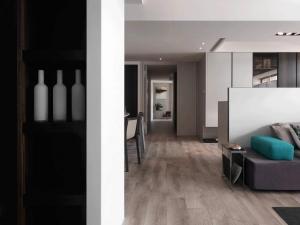 现代简约风格实木地板效果图 浅色地板效果图