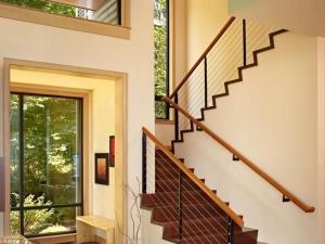 复式楼强化木地板铺装效果图 木地板效果图