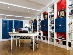 地中海风格客厅木地板效果图  浓郁海洋风