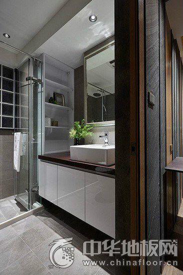 简约工业风家装灰色木地板效果图 设计即生活