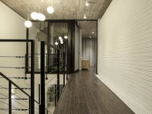 现代主义空间灰色地板效果图 强化复合地板图片