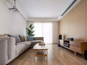 北欧风格客厅原木地板效果图 简约自然的舒适空间