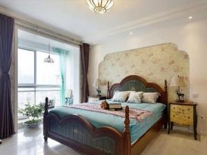 地中海风装修效果图 卧室木地板图片