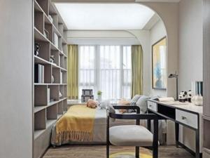 新中式木地板装修效果图 书房木地板图片