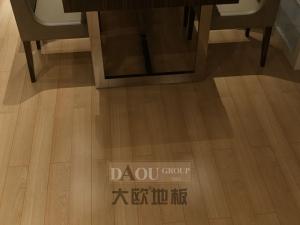 大欧地板   白蜡木地板铺装效果图