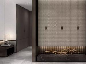 中式风木地板装修效果图 黑色系木地板图片