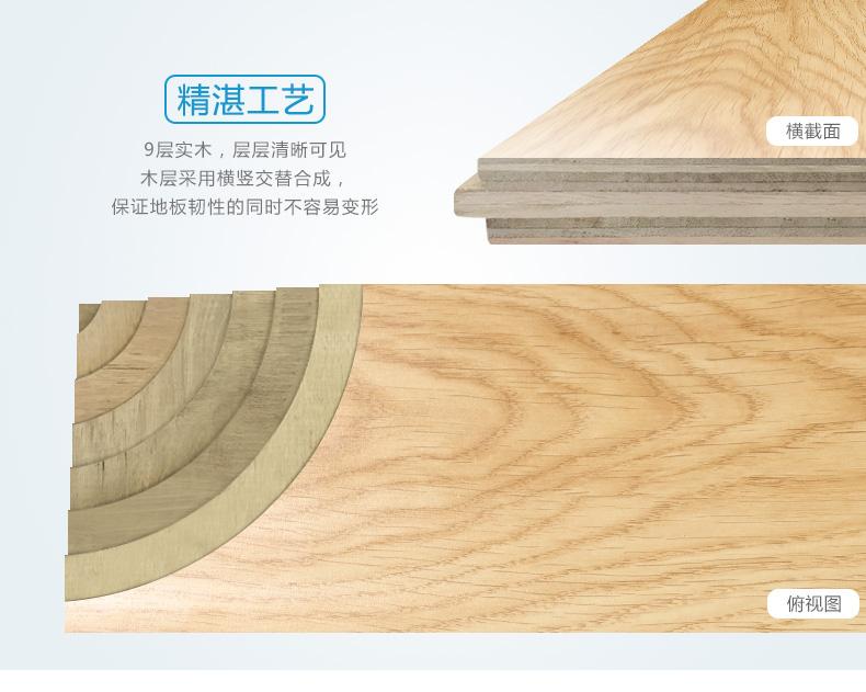 世友多层实木复合地板图片 15mm浅色防水耐磨木地板效果图