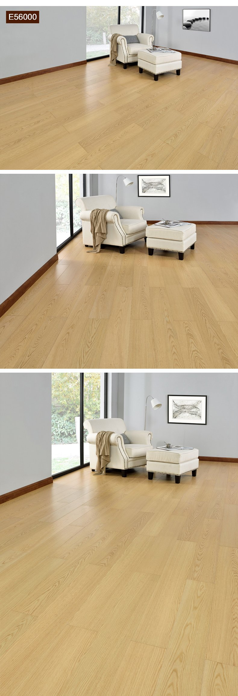 安信地板 桦木多层实木复合地板效果图