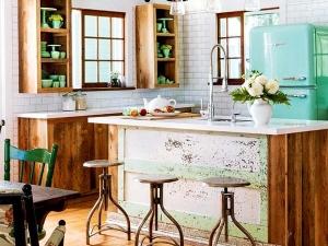 木质地板装修效果图 别人家的湖边别墅是这样的