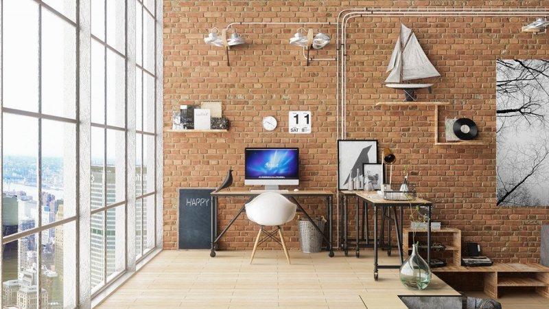 现代家庭办公室效果图大全 实木地板装饰效果图_8