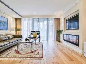 时尚全房地板铺设效果图 黄色实木地板效果图