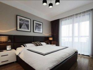 花梨木木地板装修效果图 卧室棕色木地板装修效果图