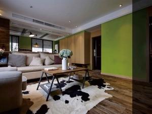 时尚客厅实木地板图片 咖啡色家装地板效果图大全