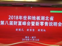 热烈庆贺2018世和地板湖北省财富峰会暨零售会圆满收官