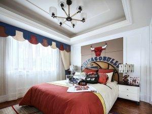 欧式儿童房间装修效果图 红色地板装修效果图