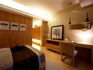 现代简约地板装修效果图 浅色原木风格装修效果图