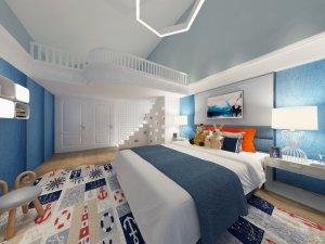 地中海风儿童房间装修效果图 浅色中式地板装修效果图