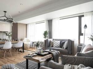 木地板颜色和图片大全 客厅原木北欧简约风格装修