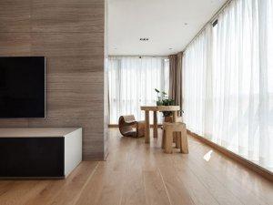 治愈系木地板电视墙效果图大全 木地板颜色效果图