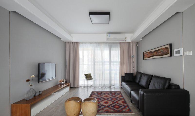 欧式地板装修效果图大全 客厅白色地板效果图_1