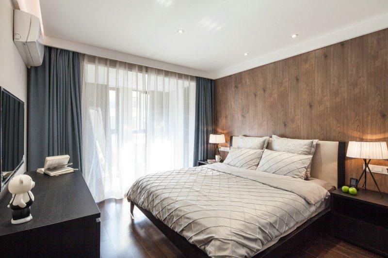 咖啡色木地板上墙效果图 现代风格装修效果图_10