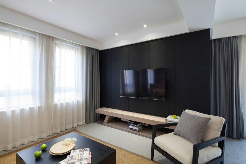 咖啡色木地板上墙效果图 现代风格装修效果图_5