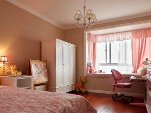 粉色空间儿童房间装修效果图 简欧地板装修效果图