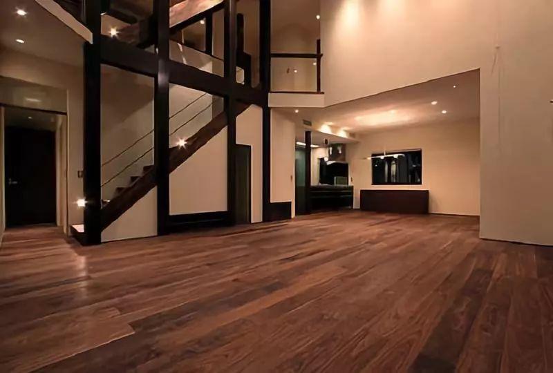 光益地板 黑胡桃实木地板装修效果图