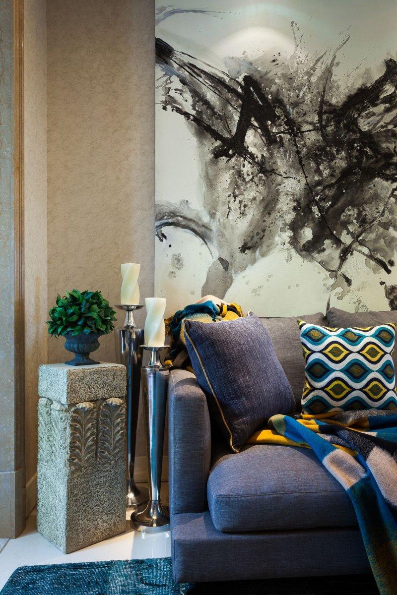 混搭风书房木地板效果图 咖啡色地板的搭配图片_3