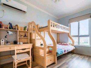 清爽原木风格装修效果图 儿童房间装修效果图