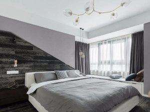 简约风木地板颜色效果图 卧室木地板上墙效果图