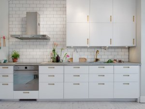 厨房白色地板效果图 简约欧式风格装修效果图