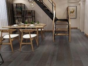 梵·戴克地板 黑色系列地板装修效果图