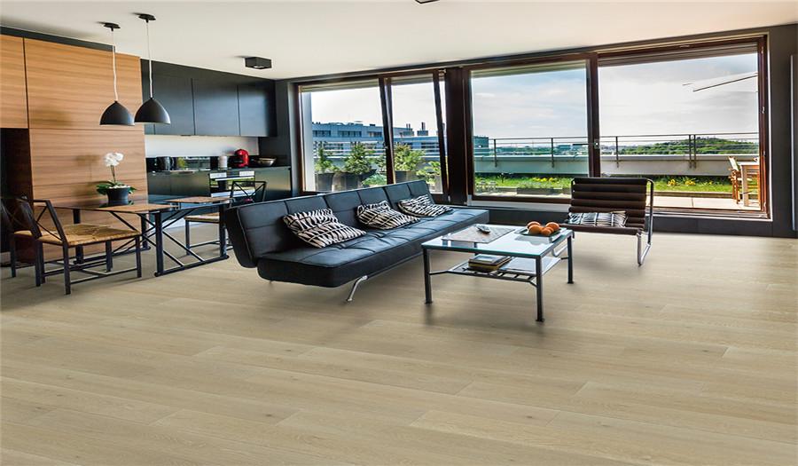 安信橡木实木地热地板 素色橡木