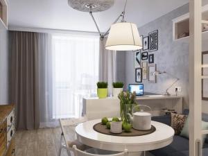 小户型地板装修效果图大全 白色家具配地板效果图