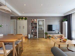 室内黄棕色木地板装修效果图 幸福很满